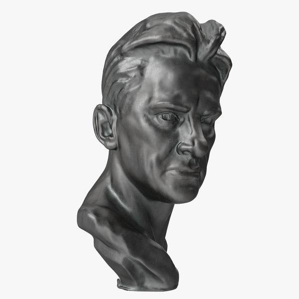 vladimir mayakovsky head 3D model