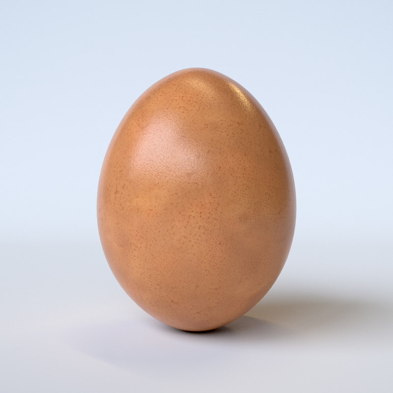 3D realistic egg brown