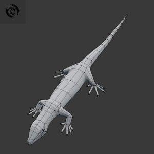 3D base lizard