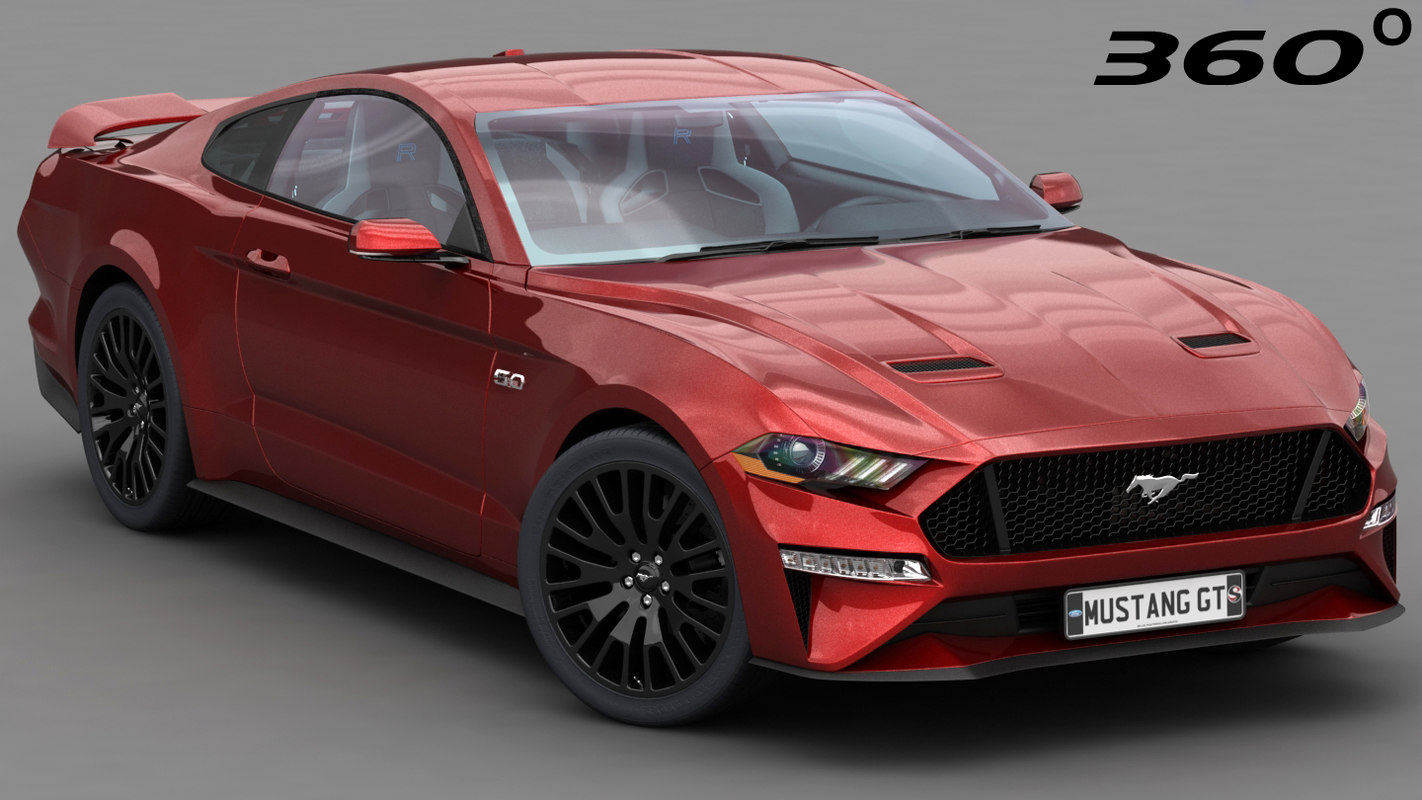 3d model ford mustang gt 2018 2019 low interior