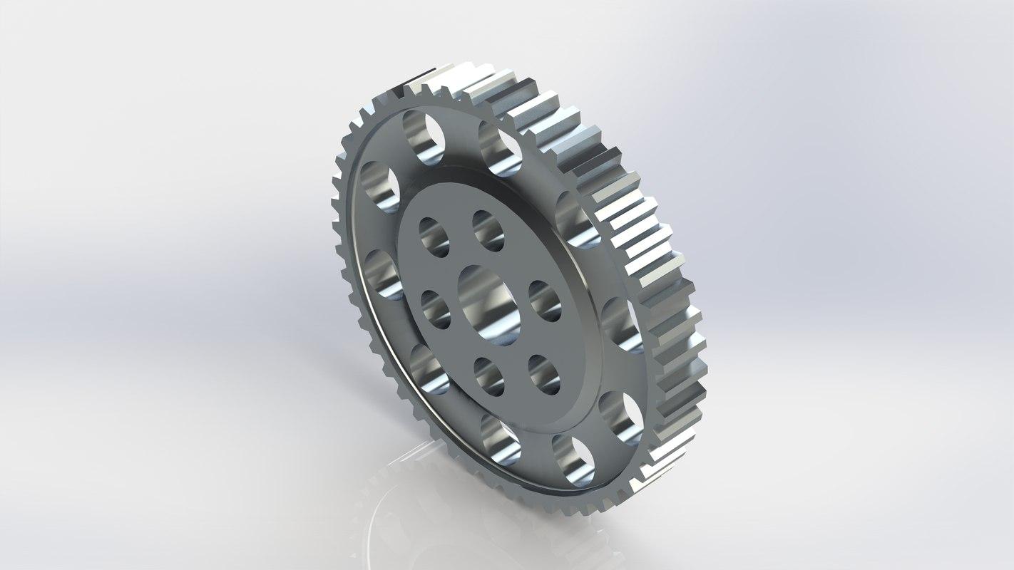 lightened flywheel 3D model