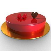 mirror glazed cake 3D model