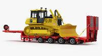 komatsu d65pxi-18 crawler dozer 3D
