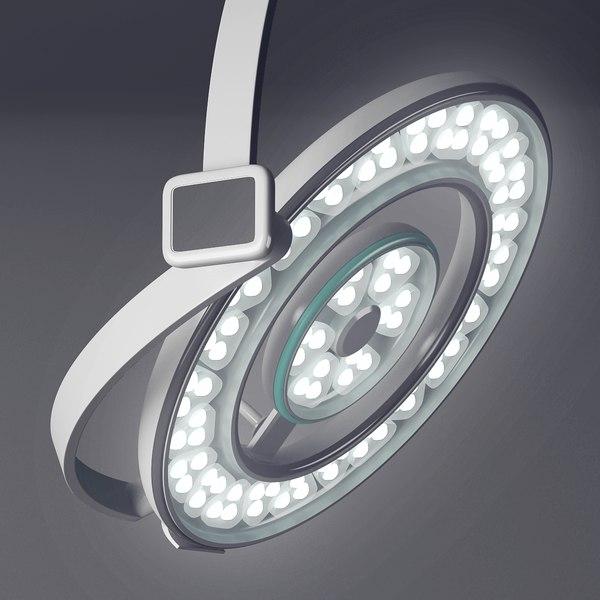 realistic surgical led light 3D model