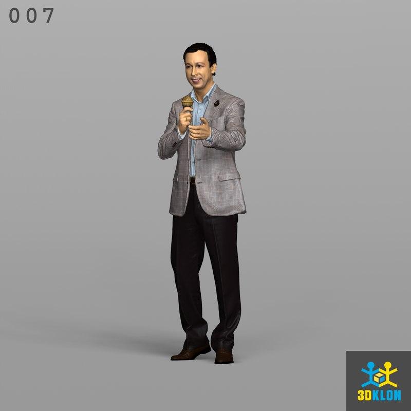 scan male 3D model