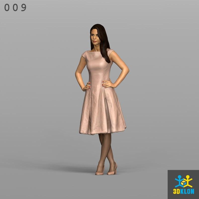 3D scan female model