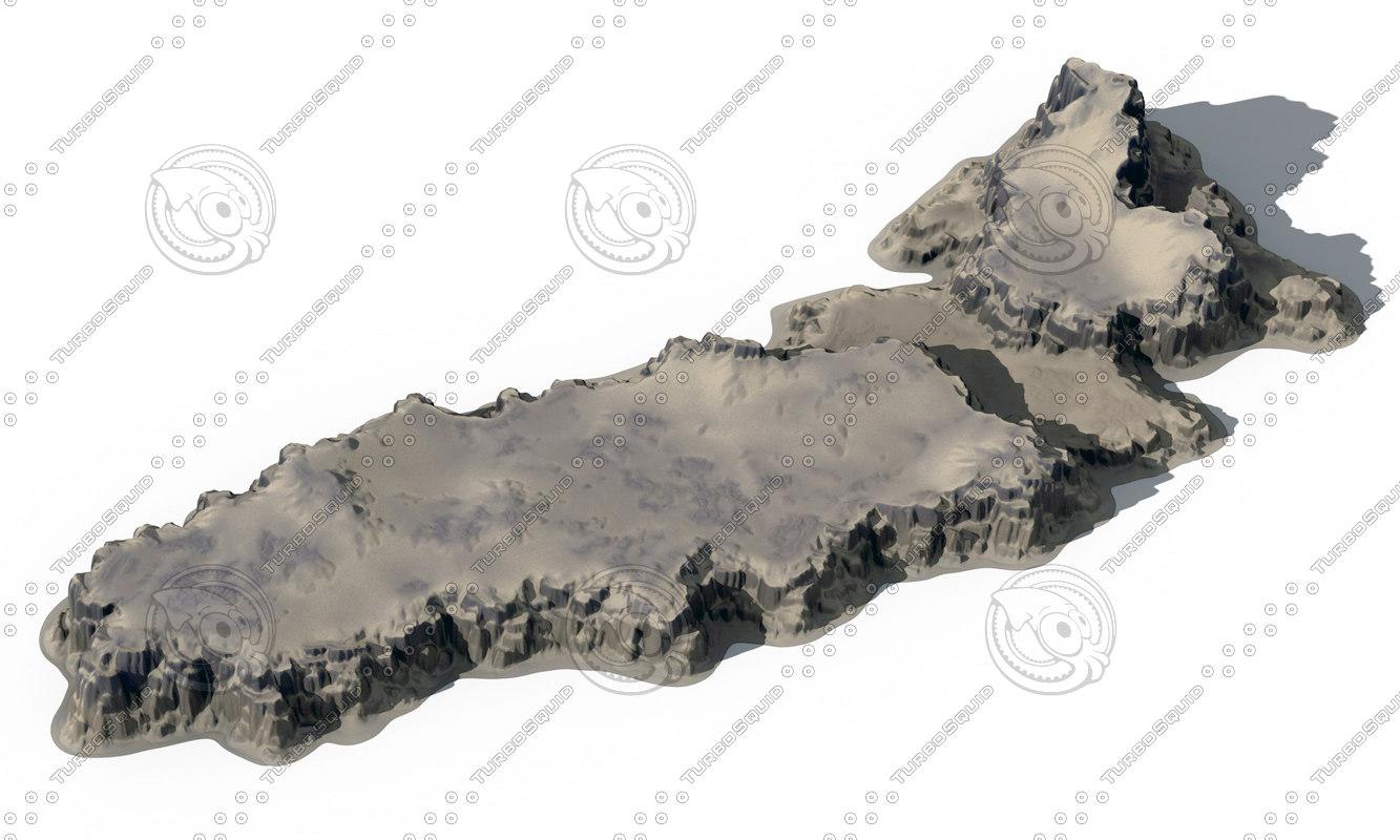 3D heightfield cliffs