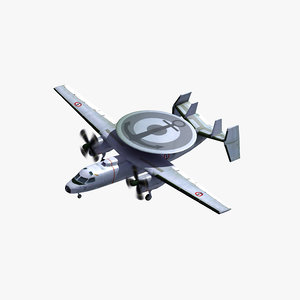 3D model e2c hawkeye french navy