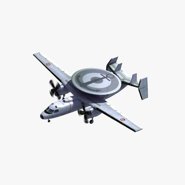 3D model e2c hawkeye french navy