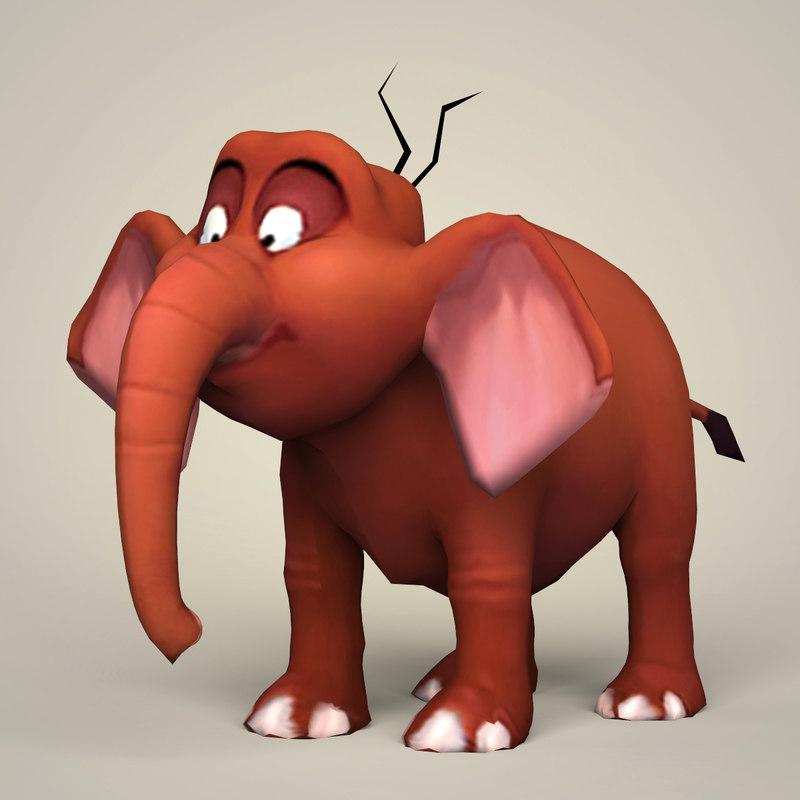 3D model ready fantasy elephant games