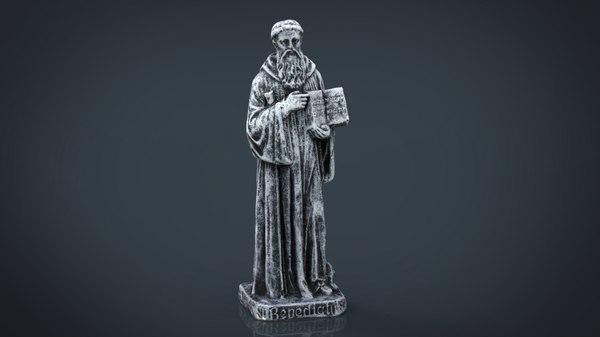 saint benedict 3D model
