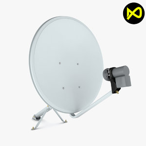 satellite dish home 3D model