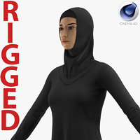 3D arab young women rigged
