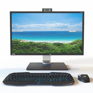3D computer set monitor