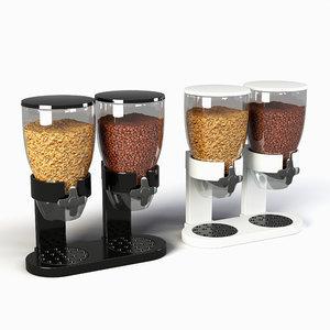 cereal dispenser double morning 3D model