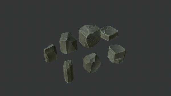 stone set 3D model