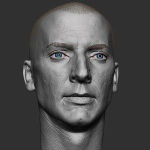caucasian man head v2 model