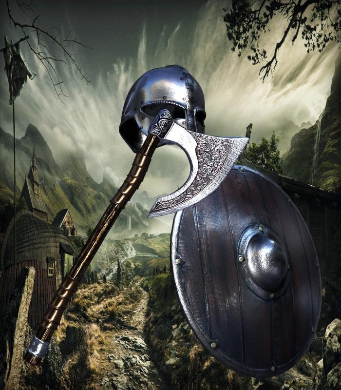3D helmet axe