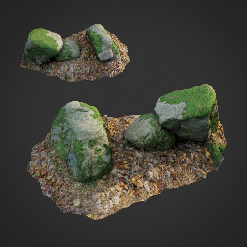 scanned nature stone 022 3D model