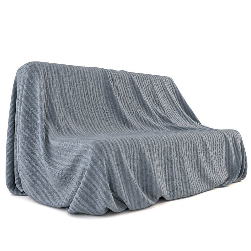 blanket couch 3D