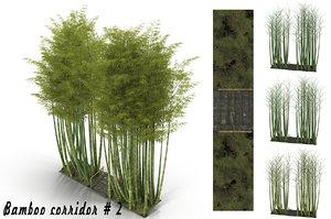 bamboo corridor 3D