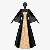 dress renaissance 3D model