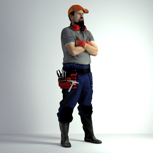 3D scanned man 019 model