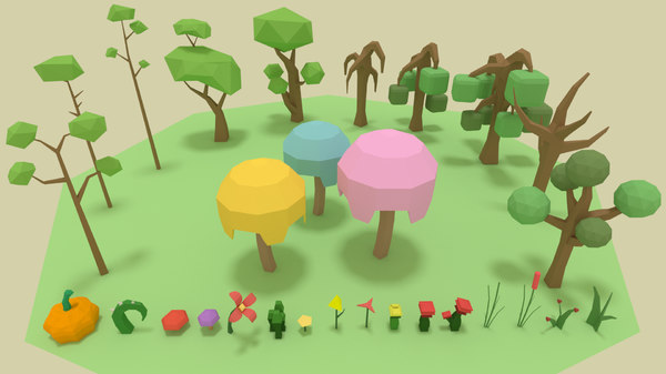 3D forest pack games trees