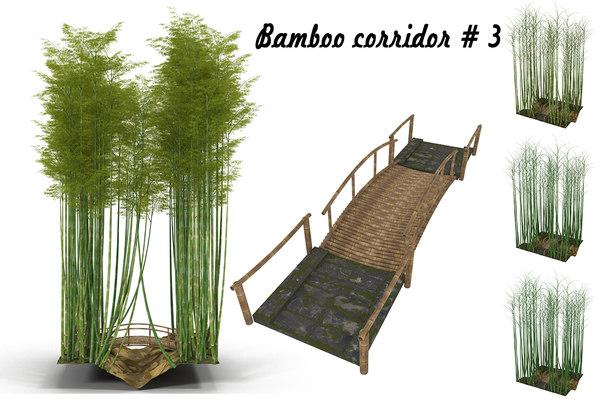 bamboo corridor 3D model