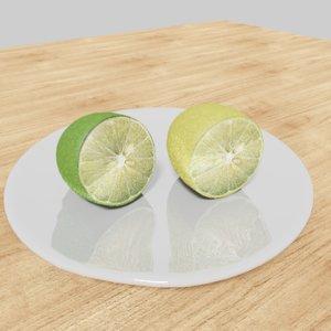 3D lemon realistic model