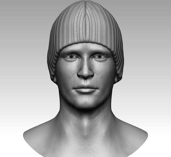 zbrush man head 3D