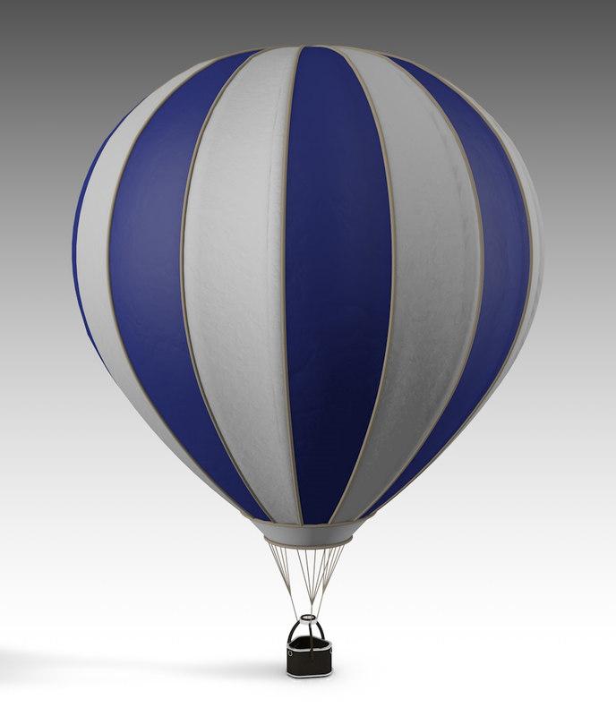 3D air balloon hot model