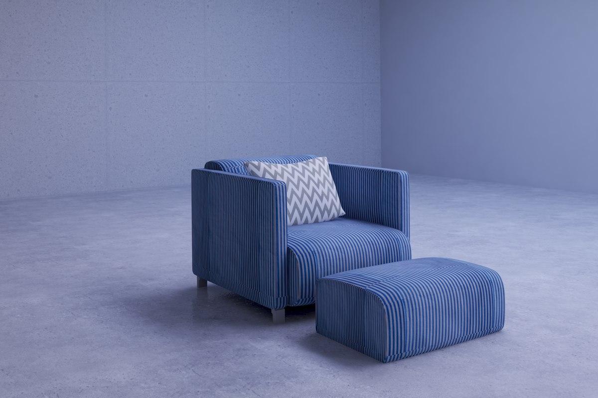 comfortable modern living room model