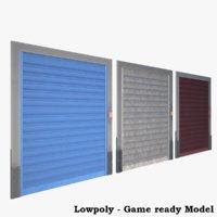shutter doors 3D model