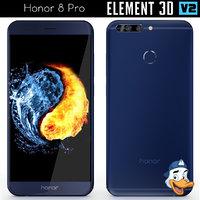 huawei honor 8 pro 3D model