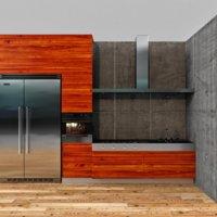 3D model loft kitchen set