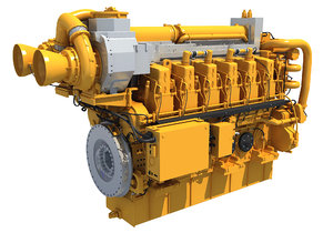 marine engine 3D model