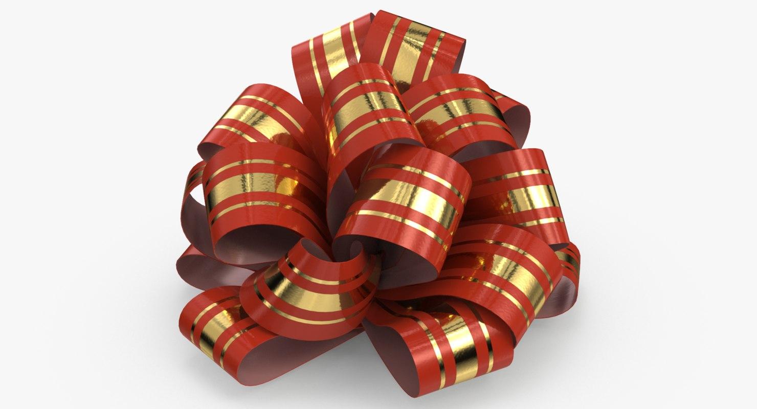 3D - gift bow 02 model