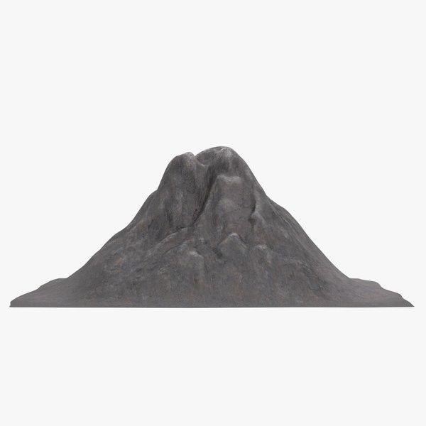 3D model volcano pbr
