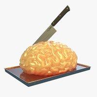 3D cake brain model