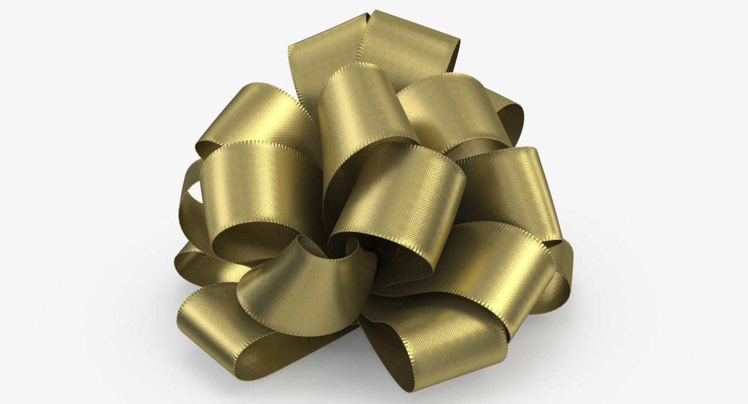 - gift bow 02 3D model