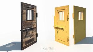 3D old wild west jail