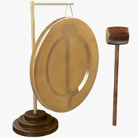 Gong and Wooden Hammer