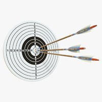 target arrows 3D model