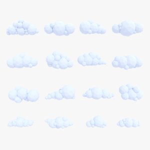 gameready clouds pack 3D model