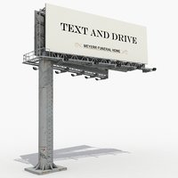 3D large billboard model