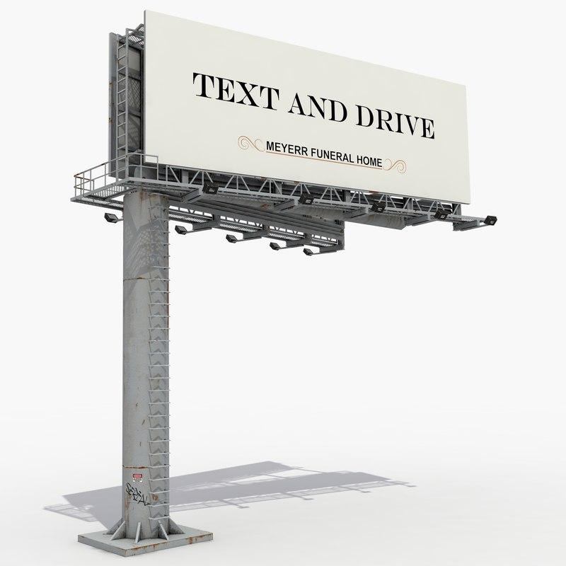 3D large billboard model