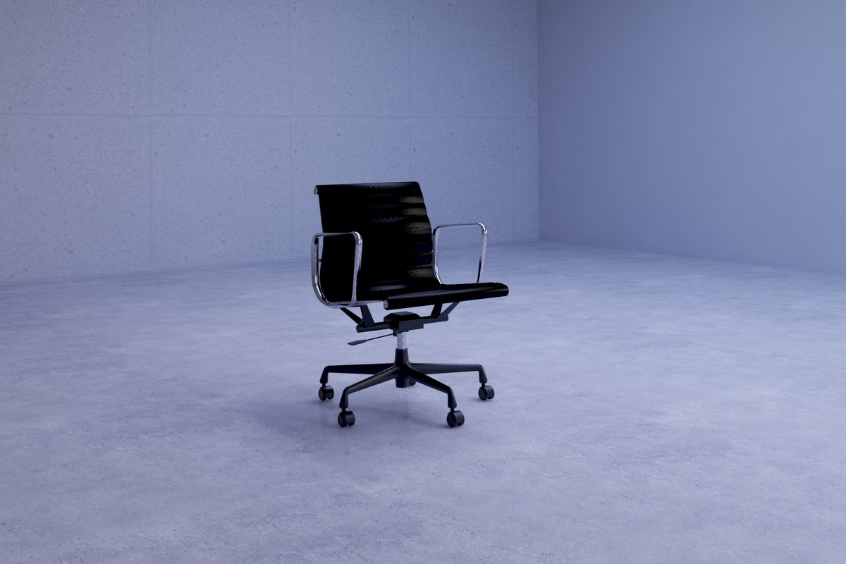 3D modern sleek office chair model