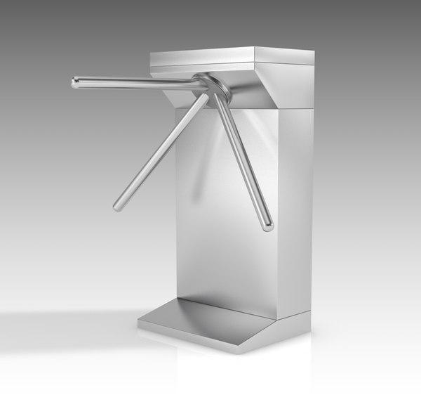 turnstile turn stile 3D model
