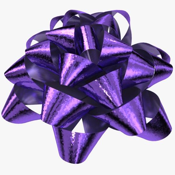 - gift bow 03 3D model